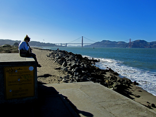 San Francisco's Marina District: Crissy Field view of the Golden Gate.